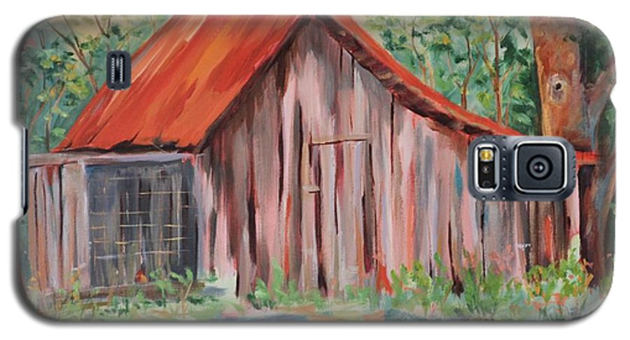 Chicken Coops Galaxy S5 Case featuring the painting Russel Crow by Ginger Concepcion