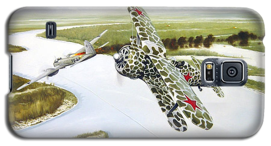 Aviation Galaxy S5 Case featuring the painting Russian Roulette by Marc Stewart