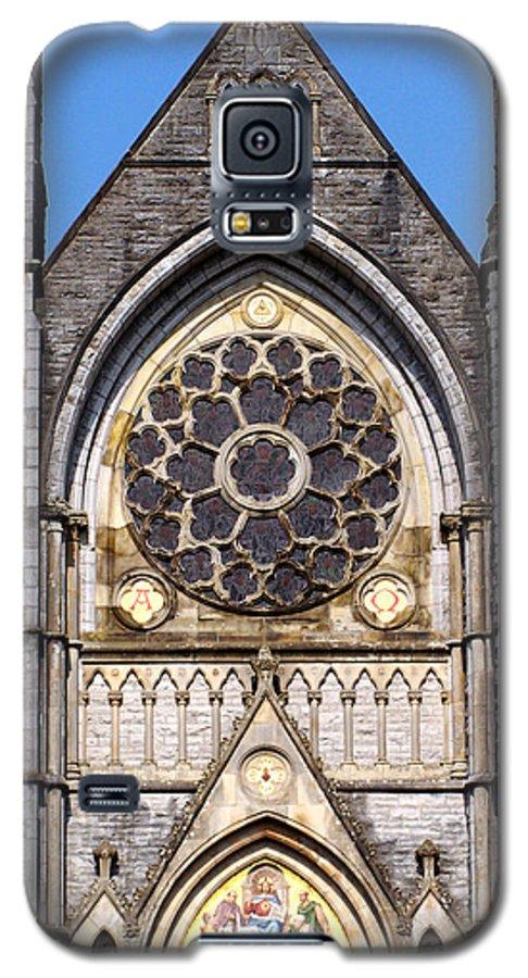 Ireland Galaxy S5 Case featuring the photograph Sacred Heart Church Detail Roscommon Ireland by Teresa Mucha