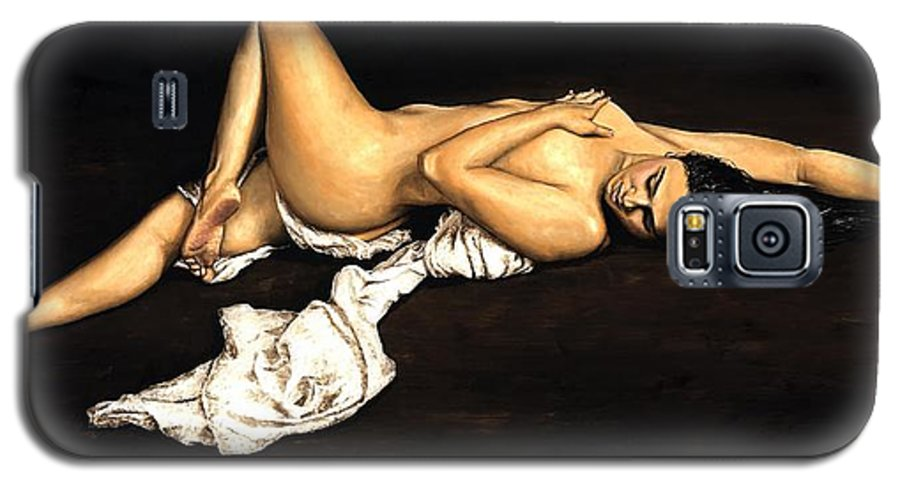 Nude Galaxy S5 Case featuring the painting Sacred by Richard Young