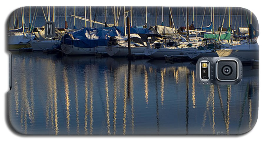 Mast Galaxy S5 Case featuring the photograph Sailboat Reflections by Idaho Scenic Images Linda Lantzy