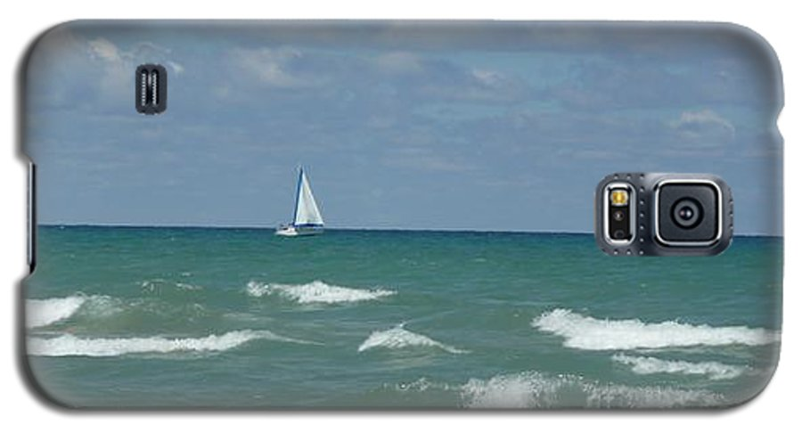 Scenery Galaxy S5 Case featuring the photograph Sailing Away On The Lake by Barb Montanye Meseroll