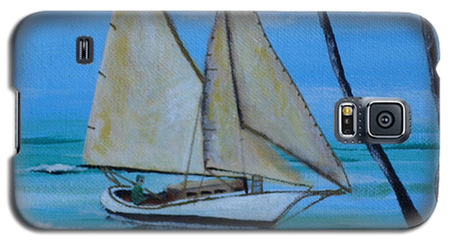 Sailboat Galaxy S5 Case featuring the painting Sailor's Dream by Susan Kubes