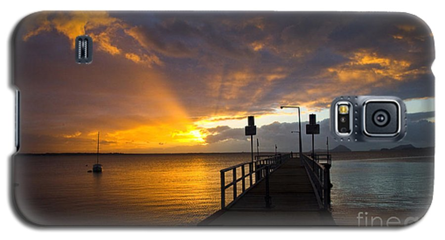 Sunrise Galaxy S5 Case featuring the photograph Salamander Bay Sunrise by Sheila Smart Fine Art Photography