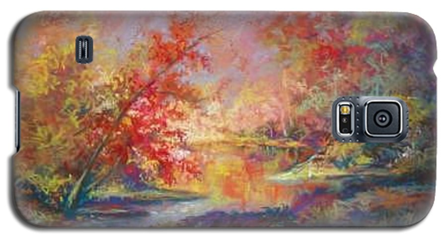 Landscape In Autumn Galaxy S5 Case featuring the painting Saline River View by Marlene Gremillion