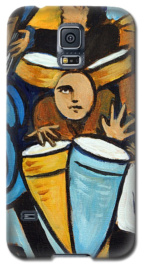Cubist Salsa Dancers Galaxy S5 Case featuring the painting Salsa Night by Valerie Vescovi