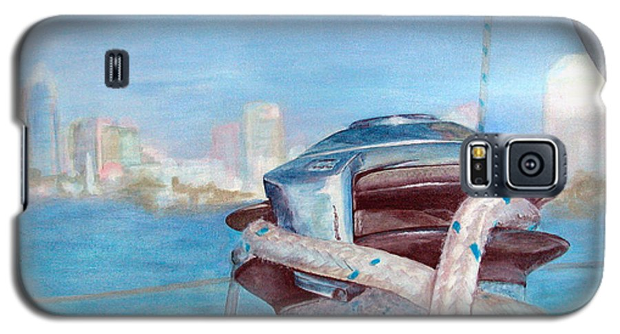 Landscape Galaxy S5 Case featuring the painting San Diego by Muriel Dolemieux
