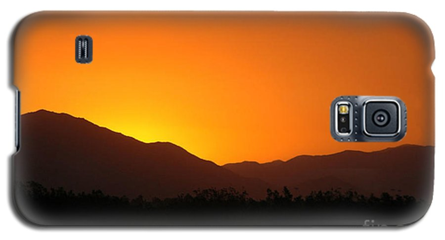 Sunset Galaxy S5 Case featuring the photograph San Jacinto Dusk Near Palm Springs by Michael Ziegler