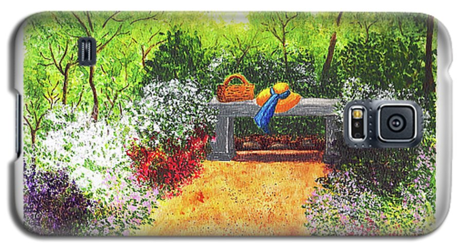 Garden Painting Galaxy S5 Case featuring the painting Sanctuary by Patricia Griffin Brett