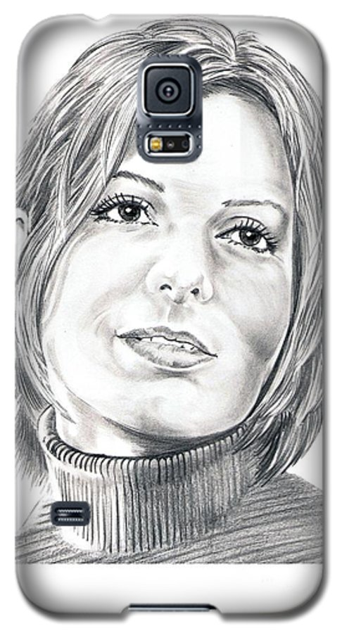 Drawing Galaxy S5 Case featuring the drawing Sandra Bullock by Murphy Elliott