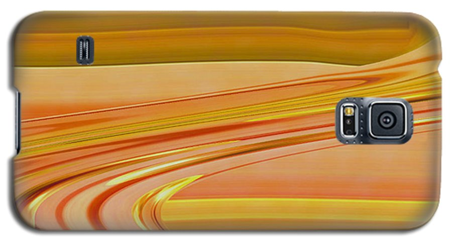 Sunset Art Galaxy S5 Case featuring the digital art Sands Of Time by Linda Sannuti