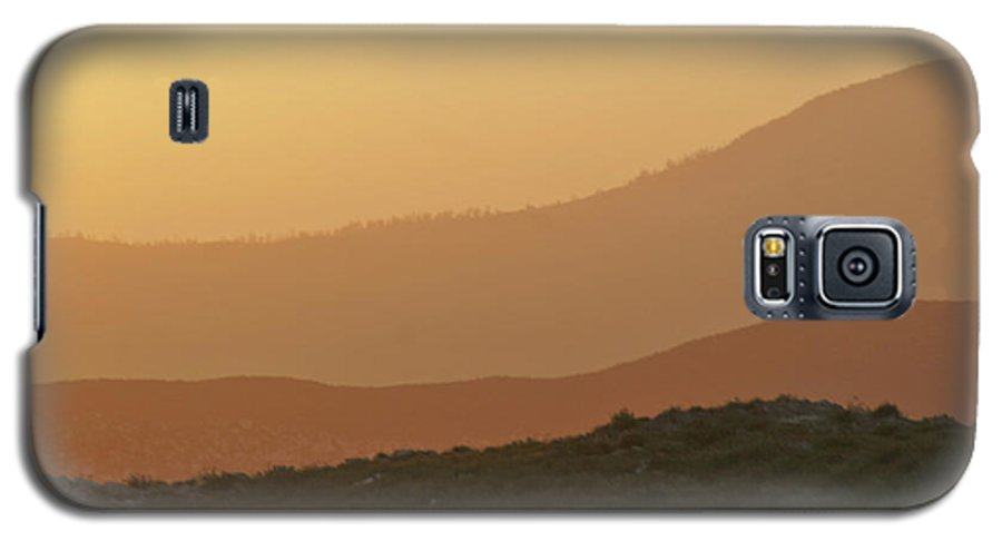 Sandstorm Galaxy S5 Case featuring the photograph Sandstorm During Sunset On Old Highway Route 80 by Christine Till