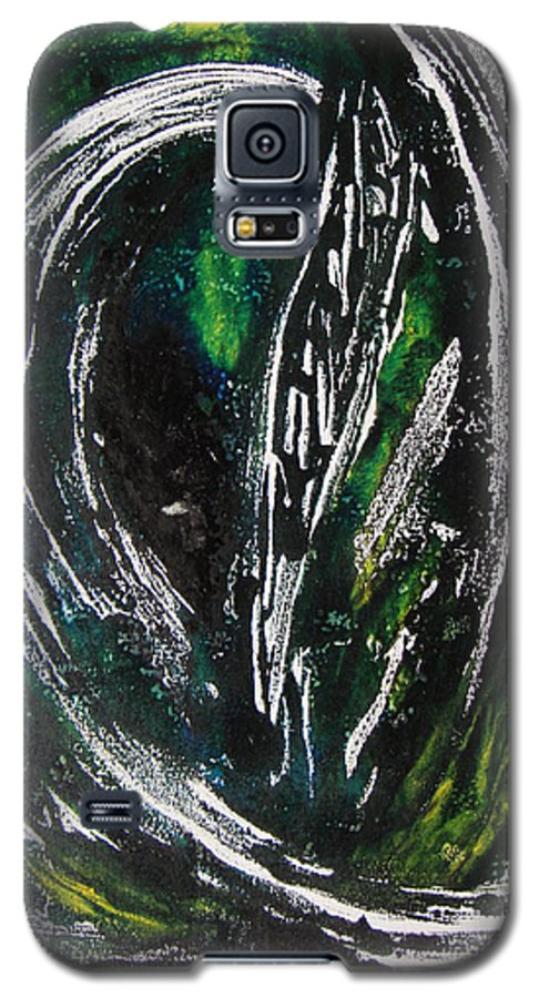 Abstract Galaxy S5 Case featuring the painting Sans Fin by Muriel Dolemieux