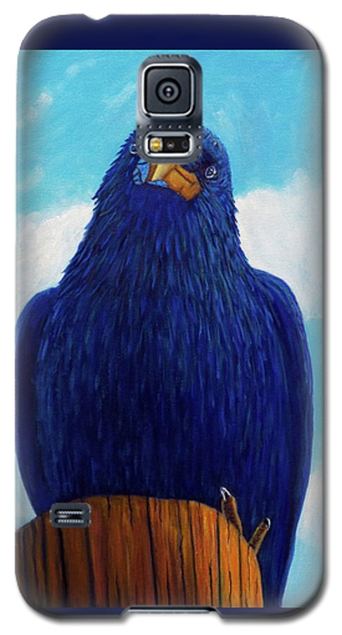 Raven Galaxy S5 Case featuring the painting Santa Fe Smile by Brian Commerford
