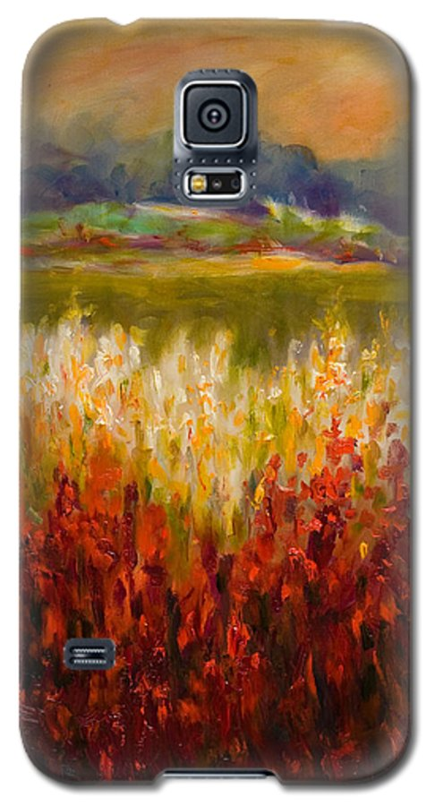 Landscape Galaxy S5 Case featuring the painting Santa Rosa Valley by Shannon Grissom