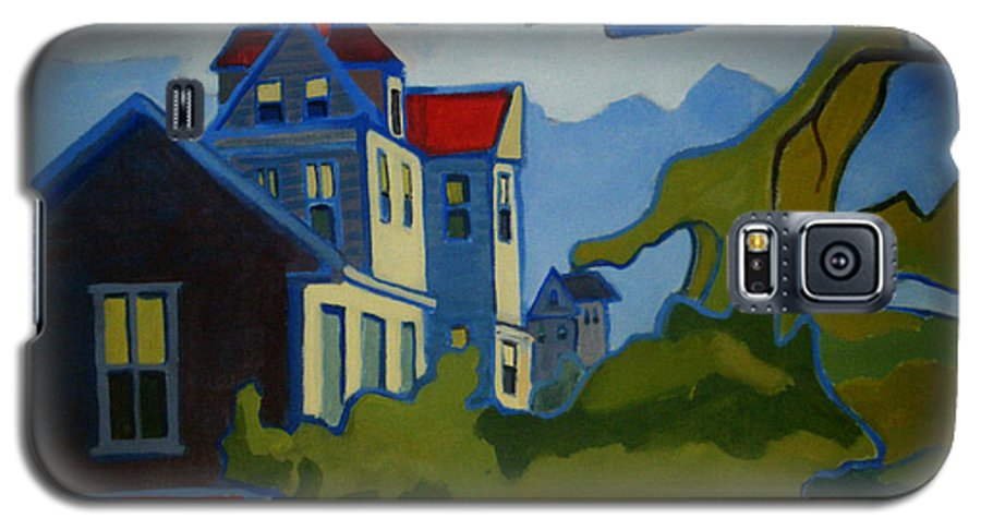 Buildings Galaxy S5 Case featuring the painting Sarah Paul by Debra Bretton Robinson