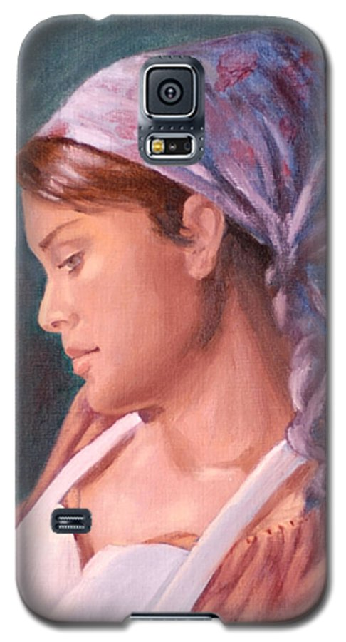 Maid Galaxy S5 Case featuring the painting Sarah The Kitchen Maid After Johnnie Liliedahl by Quwatha Valentine