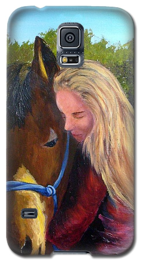Galaxy S5 Case featuring the painting Sasha And Chelsea by Tami Booher