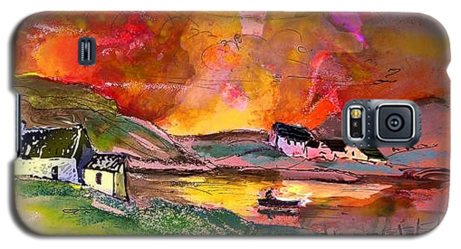 Scotland Paintings Galaxy S5 Case featuring the painting Scotland 07 by Miki De Goodaboom