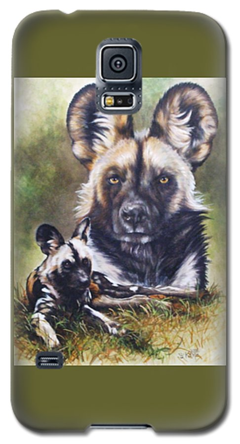 Wild Dogs Galaxy S5 Case featuring the mixed media Scoundrel by Barbara Keith