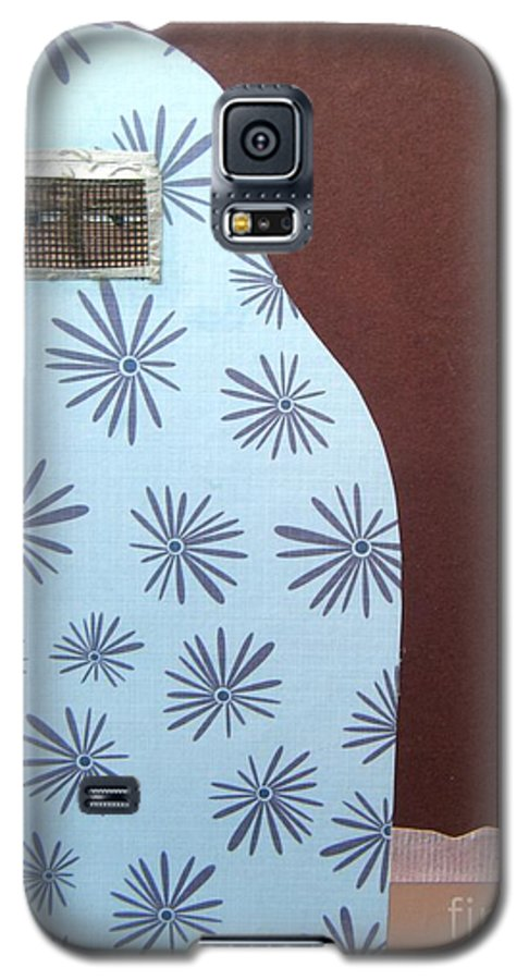 Woman Galaxy S5 Case featuring the mixed media Screen To The World by Debra Bretton Robinson