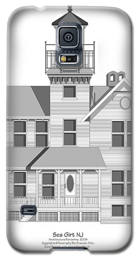 Lighthouse Galaxy S5 Case featuring the painting Sea Girt New Jersey Architectural Drawing by Anne Norskog