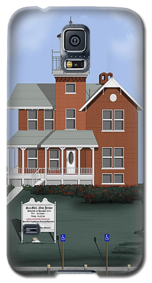 Lighthouse Galaxy S5 Case featuring the painting Sea Girt New Jersey by Anne Norskog