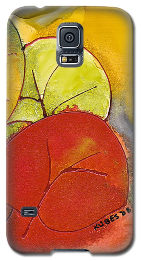 Leaf Galaxy S5 Case featuring the painting Sea Grapes by Susan Kubes