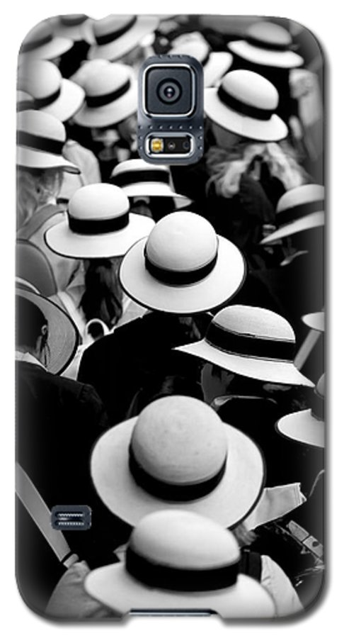 Hats Schoolgirls Galaxy S5 Case featuring the photograph Sea Of Hats by Sheila Smart Fine Art Photography