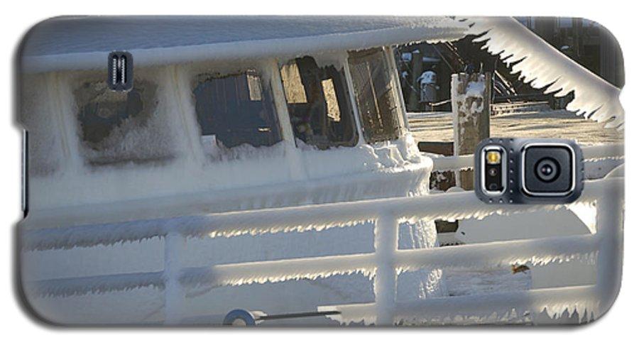 Fishing Galaxy S5 Case featuring the photograph Sea Spray Ice by Faith Harron Boudreau
