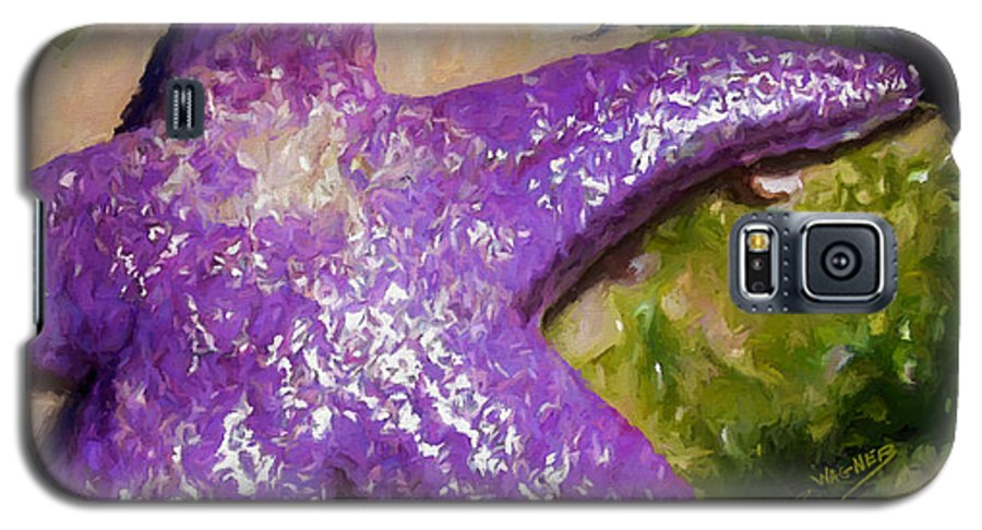 Sea Stars Galaxy S5 Case featuring the painting Sea Stars by David Wagner