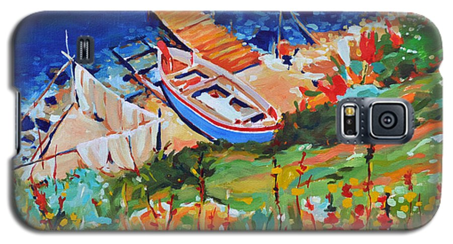 Seascape Galaxy S5 Case featuring the painting Seacoast by Iliyan Bozhanov