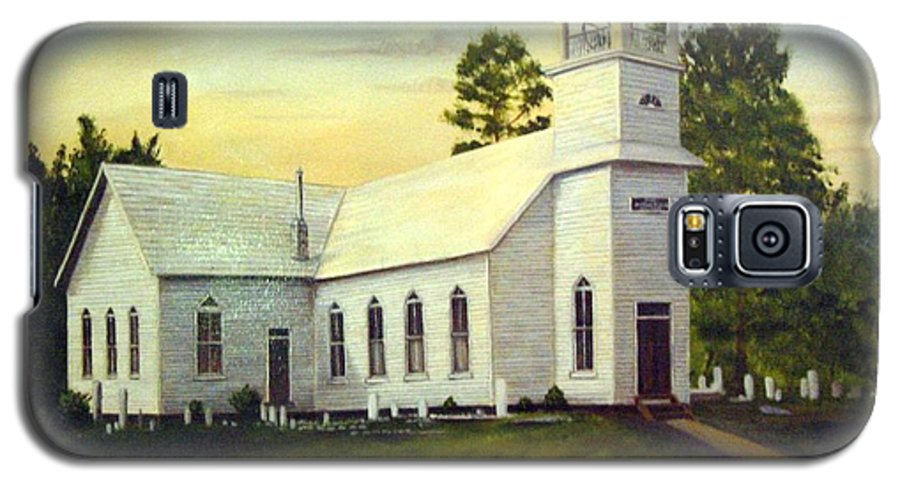 Church Galaxy S5 Case featuring the painting Seaford Zion Methodist Church by Anne Kushnick