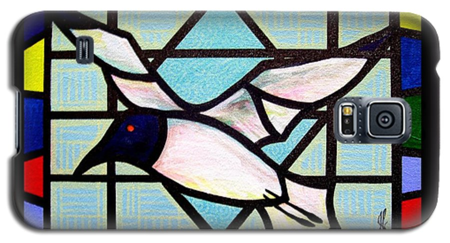 Seagull Galaxy S5 Case featuring the painting Seagull Serenade by Jim Harris