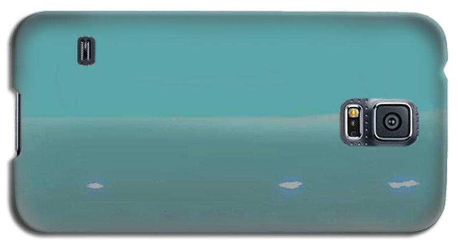 Night.no Moon.sky.sea.waves.coast. Sea Surf .foam Waves. Galaxy S5 Case featuring the digital art Sea.night.no Moon. by Dr Loifer Vladimir