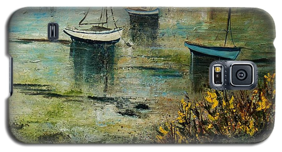 Seascape Galaxy S5 Case featuring the print Seascape 78 by Pol Ledent