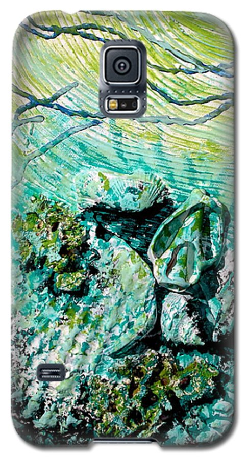 Seashell Galaxy S5 Case featuring the sculpture Seashell Collage by Susan Kubes