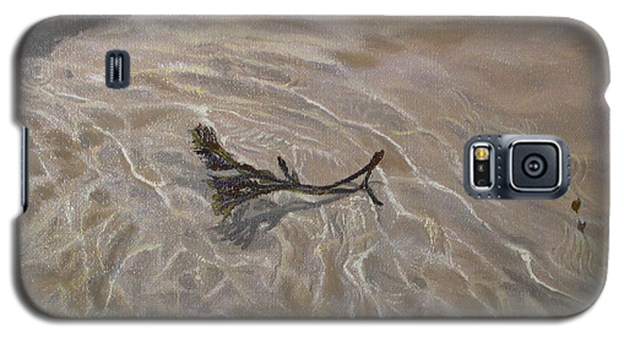 Seascape Galaxy S5 Case featuring the painting Seashore Reflections by Lea Novak