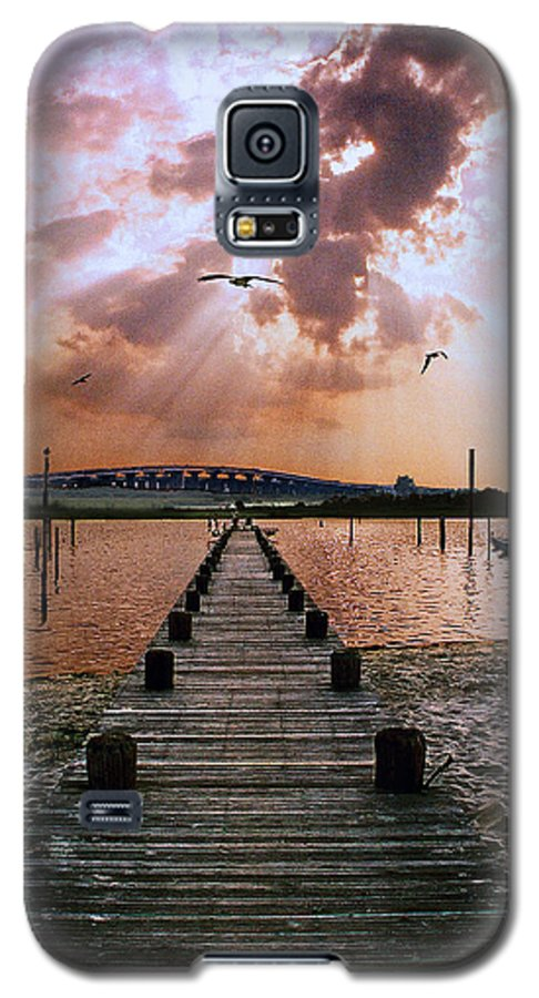 Seascape Galaxy S5 Case featuring the photograph Seaside by Steve Karol