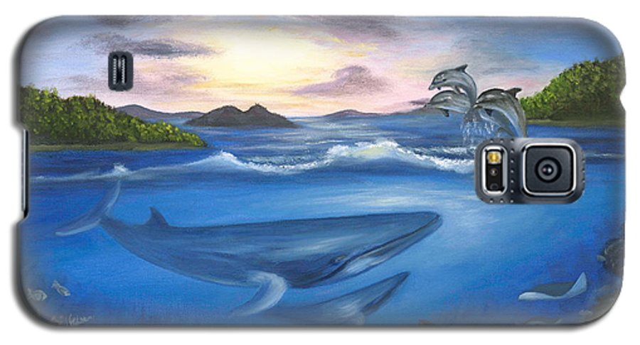 Landscape Galaxy S5 Case featuring the painting Seaworld by Anne Kushnick