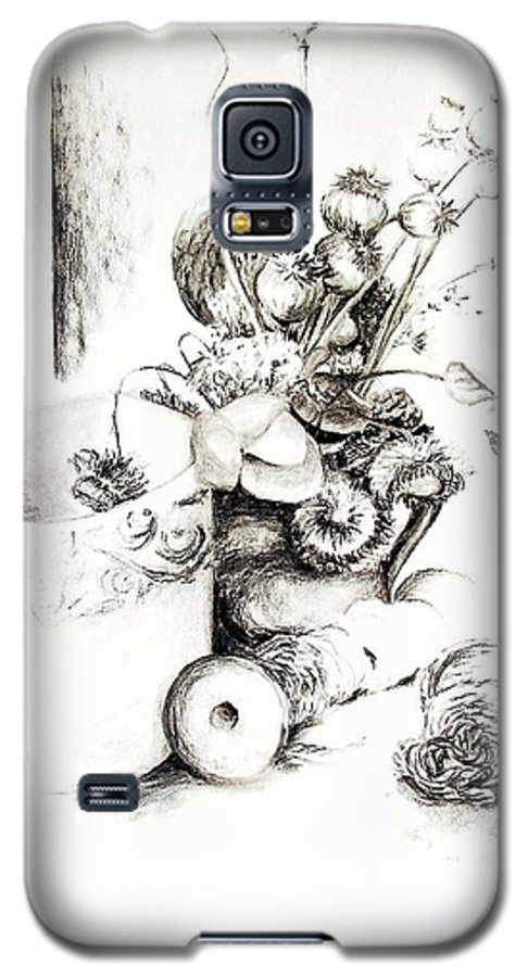 Still Life Galaxy S5 Case featuring the drawing Sec by Muriel Dolemieux