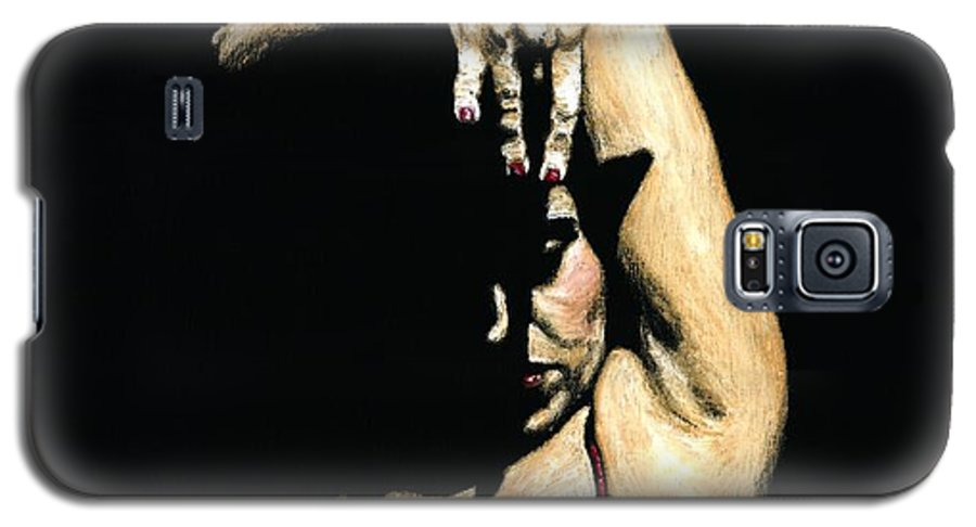 Flamenco Galaxy S5 Case featuring the painting Seclusion Del Flamenco by Richard Young