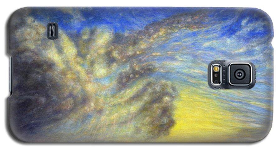 Coastal Decor Galaxy S5 Case featuring the painting Secret Beach Sunset by Kenneth Grzesik
