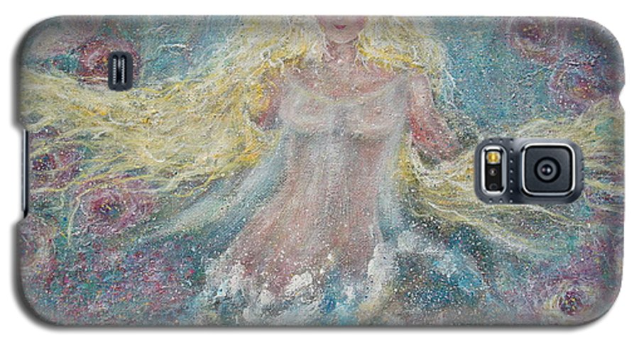 Angel Galaxy S5 Case featuring the painting Secret Garden Angel 3 by Natalie Holland