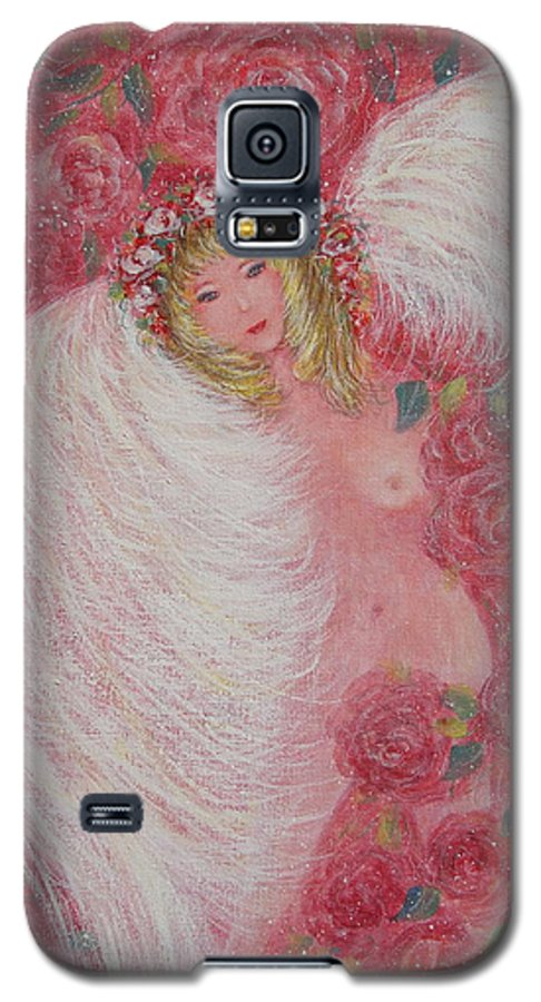 Angel Galaxy S5 Case featuring the painting Secret Garden Angel 6 by Natalie Holland