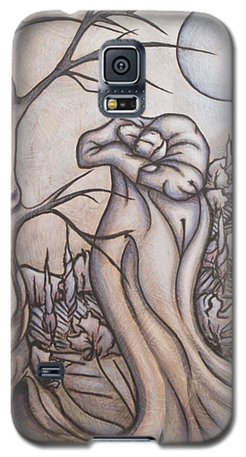 Dream. Moon Galaxy S5 Case featuring the painting Secrets And Dreams by Judy Henninger