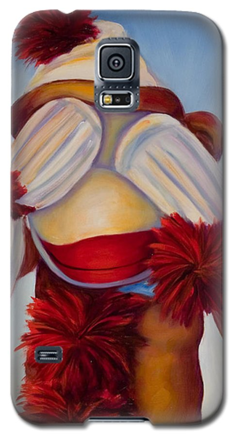 Children Galaxy S5 Case featuring the painting See No Bad Stuff by Shannon Grissom