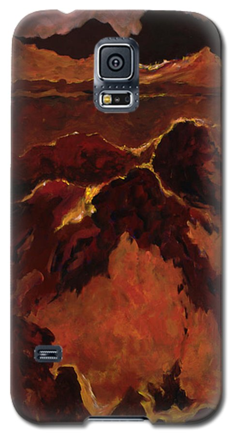 Abstract Galaxy S5 Case featuring the painting Seismic Shift by Tara Moorman