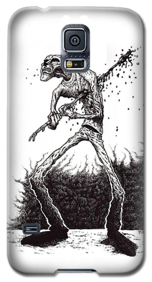 Dark Galaxy S5 Case featuring the drawing Self Inflicted by Tobey Anderson
