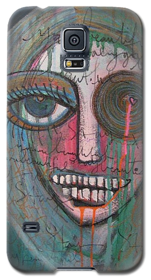 Self Portraits Galaxy S5 Case featuring the painting Self Portrait Youre Beautiful by Laurie Maves ART